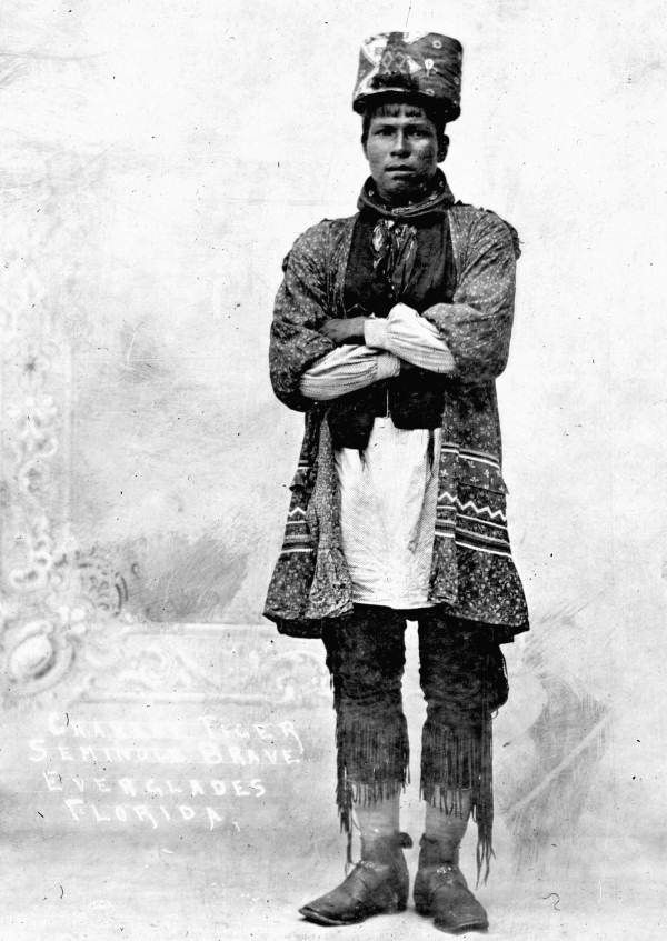 1913. Charlie Tiger Tail was a Seminole Chief and the first in his tribe to become a profitable merchant
