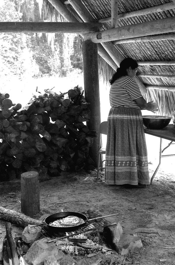 Addie Osceola making Seminole food- White Springs, Florida