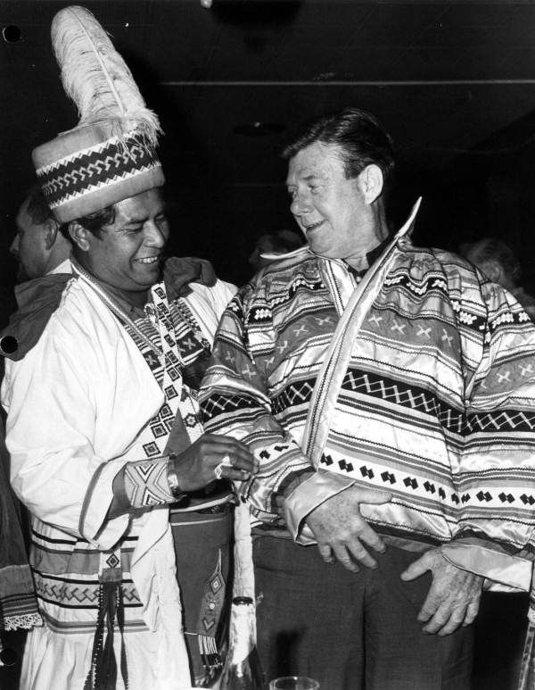 Chairman Billy Osceola, with Arthur Godfrey