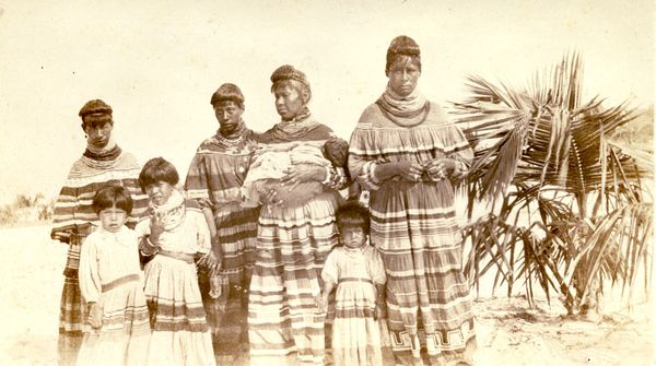 Group portrait of Seminole mothers and children