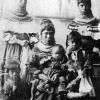 Group portrait of Seminole women and children