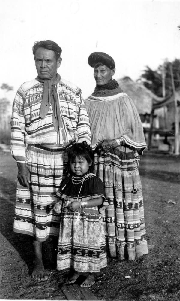 John Osceola, his wife Watsie, and their child