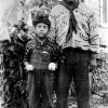 Robert Billie and his son, 1945