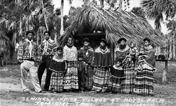 Seminole village - at Royal Palm Hammock on the Tamiami Trail
