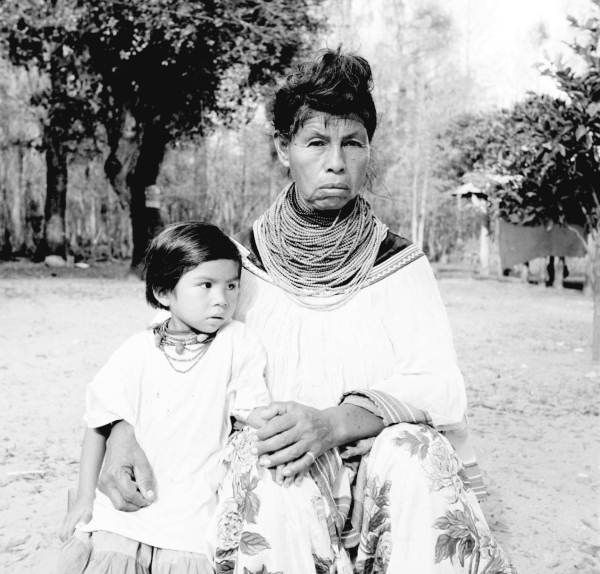 Seminole woman Mrs Osceola and her granddaughter