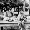 Seminole woman making dolls - Brighton Reservation, Florida